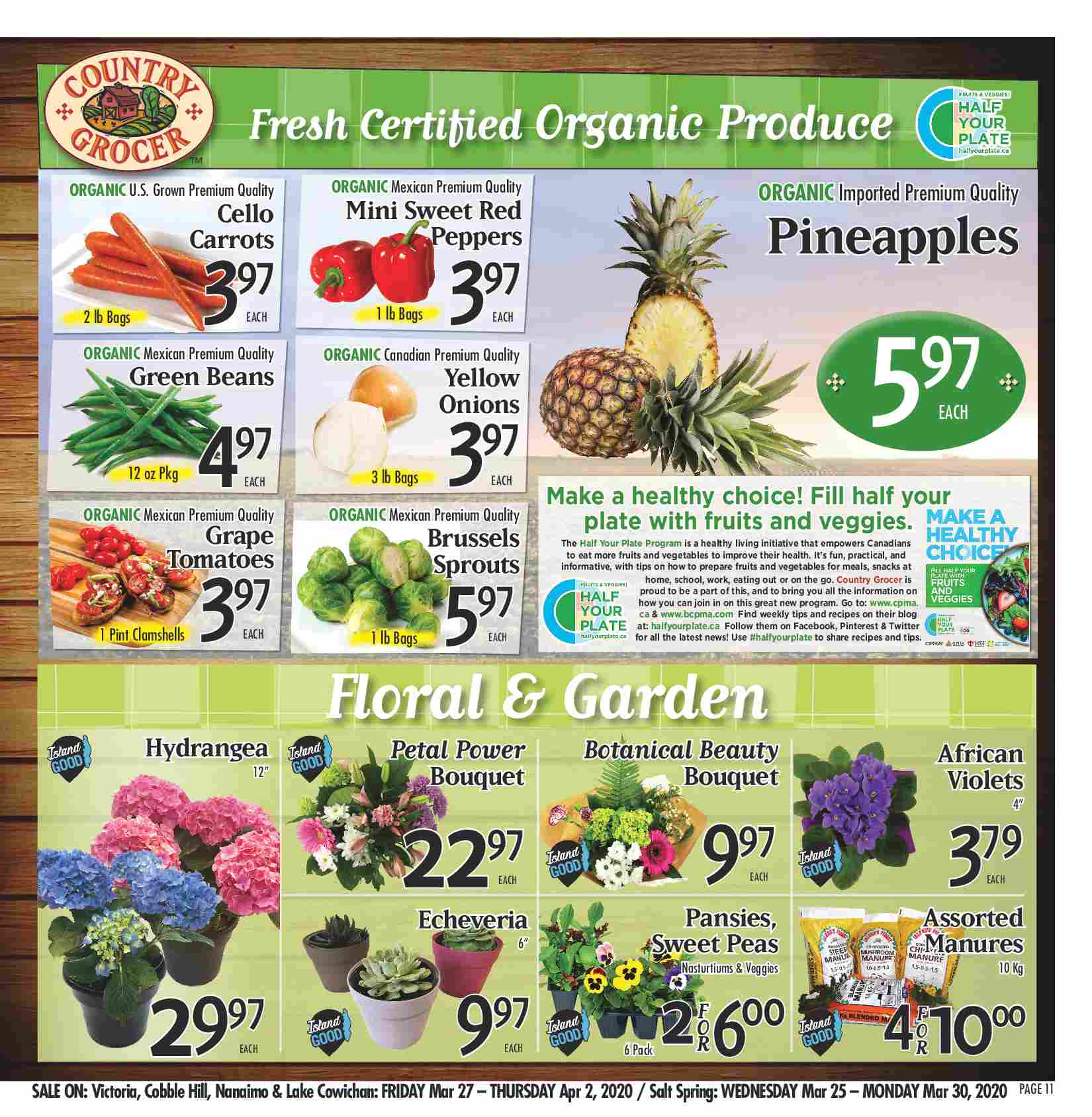 Fresh Certified Organic Produce